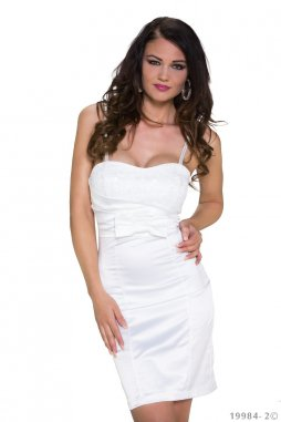 Koktejlové šaty Latoya bílé