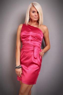 Společenské šaty Marcy tmavě růžové