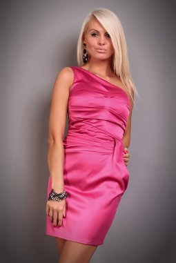 Společenské šaty Marcy růžové