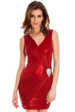 Společenské šaty Skye vínově červené