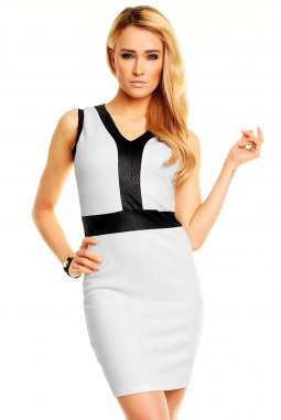 Společenské šaty Donita bílé