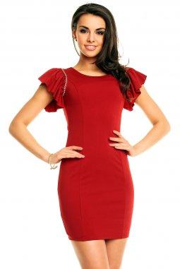 Společenské šaty Shellie vínově červené