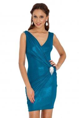Společenské šaty Skye modrozelené