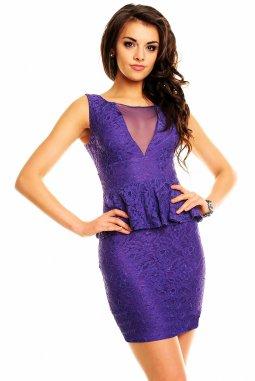 Společenské šaty Melvina fialové