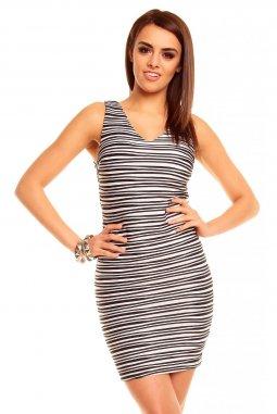 Společenské šaty Lulu černo-bílé