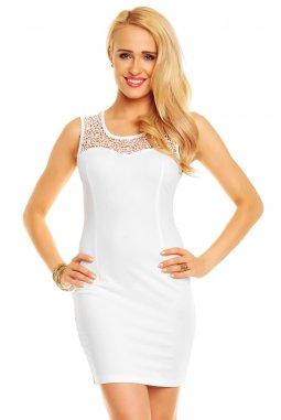 Společenské šaty Elmira bílé