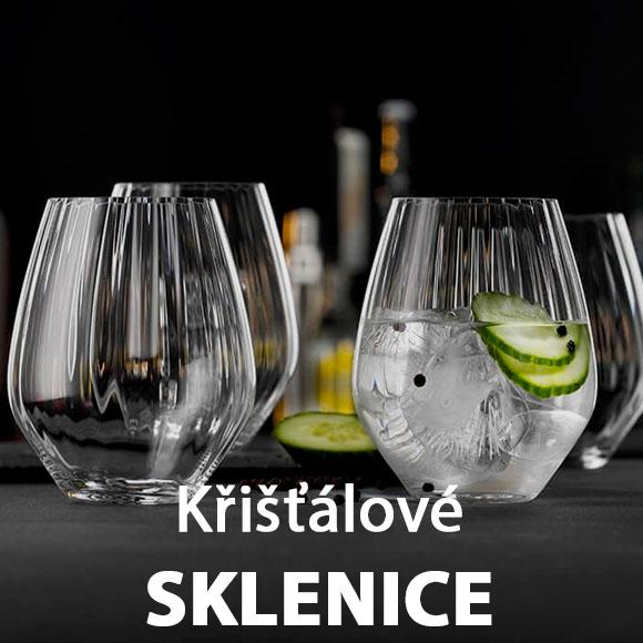Nádherné křišťálové sklenice