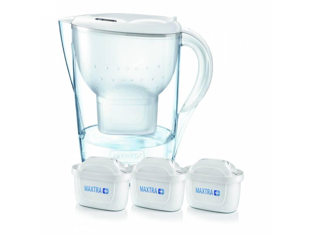 Filtrační konvice Marella 2,4L bílá + 3 filtry, BRITA