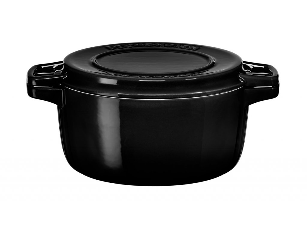 Hrnec s poklicí litinový 3,8 l 24 cm černá, KitchenAid
