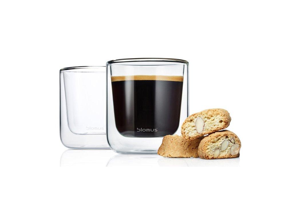 Set 2 ks termosklenic na Kávu 200ml  NERO, BLOMUS