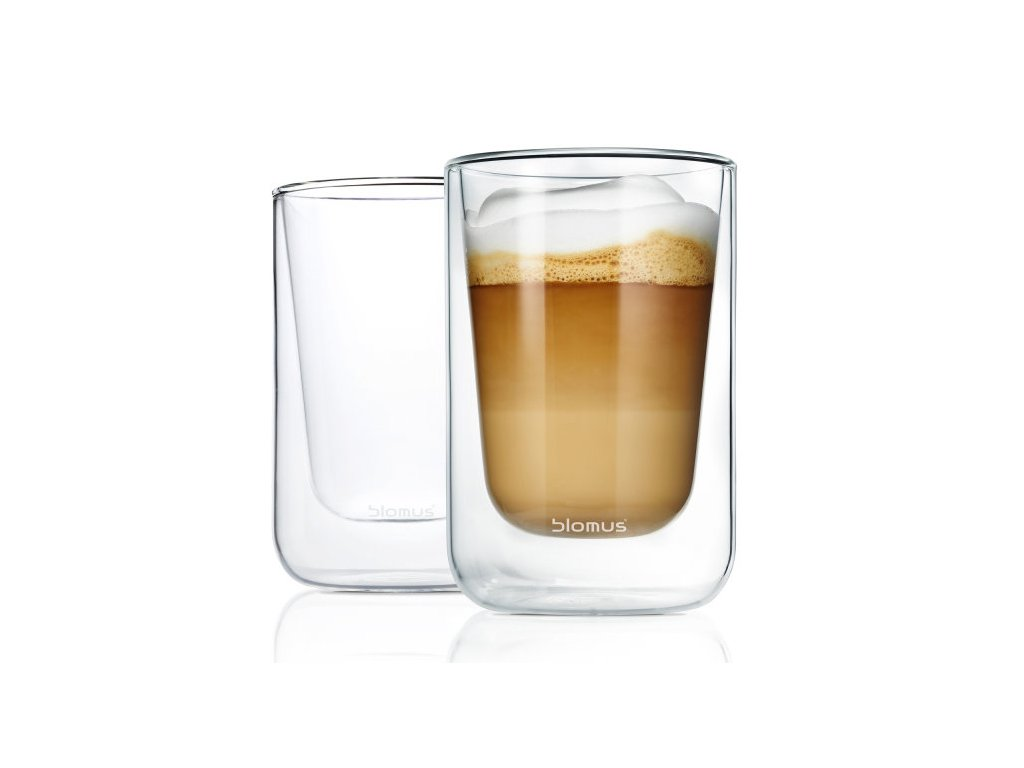 Set 2 ks termosklenic na Cappuccino 250ml  NERO, BLOMUS