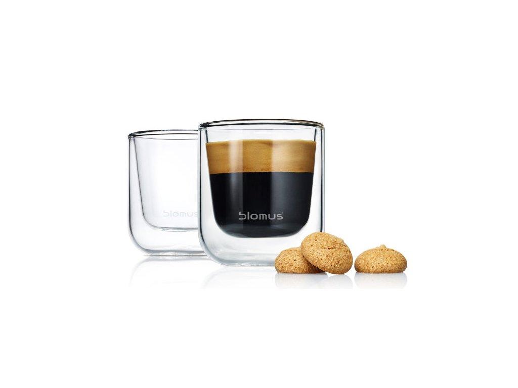 Set 2 ks termosklenic na Espresso 80ml  NERO, BLOMUS