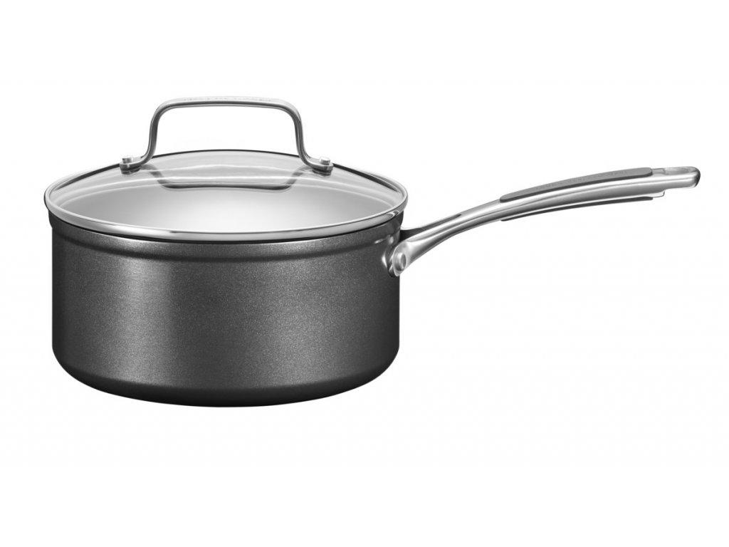 Kastrol nepřilnavý anodizovaný hliník s poklicí 2,8 l 20 cm, KitchenAid