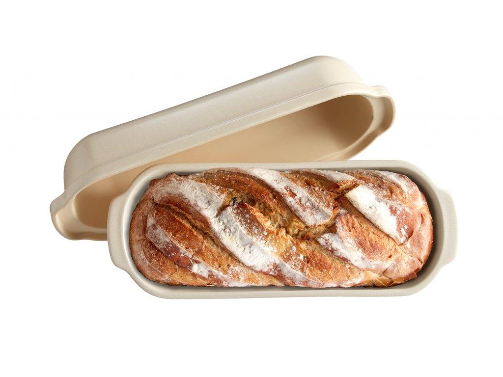 Forma na pečení chleba velká hranatá 40x16 cm Lněná, EMILE HENRY