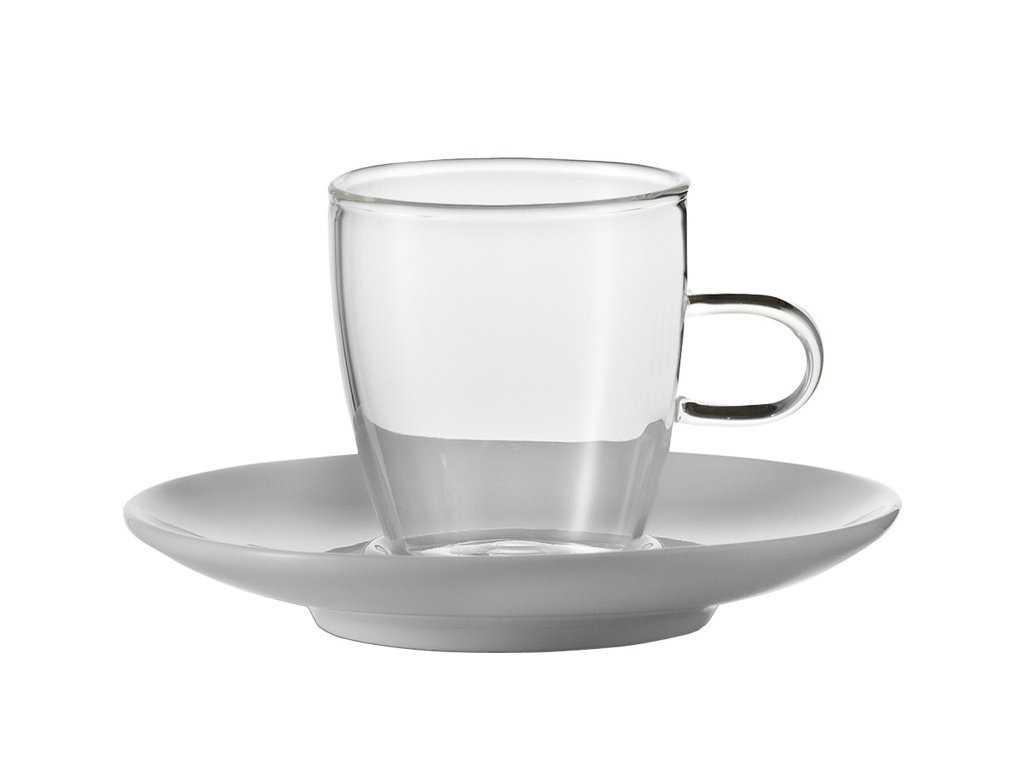 Sada šálků na coffee s podšálkem, 250ml  Concept, set.2ks, JENAER GLAS