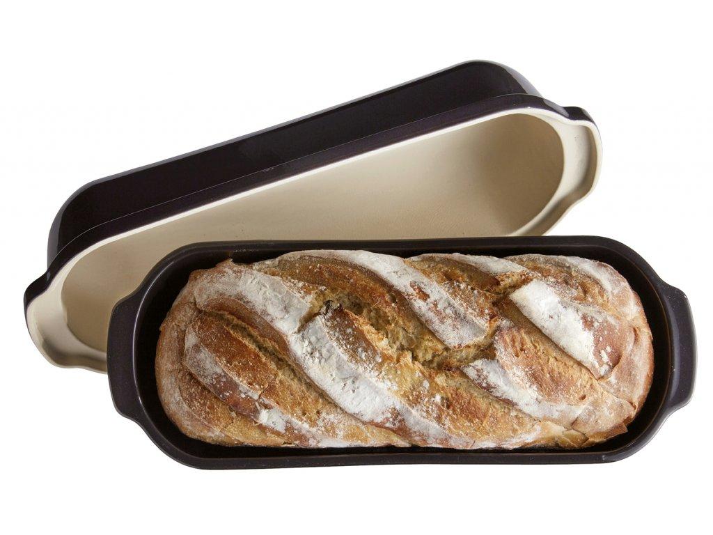 Forma na pečení chleba velká hranatá 40x16 cm Pepřová, EMILE HENRY