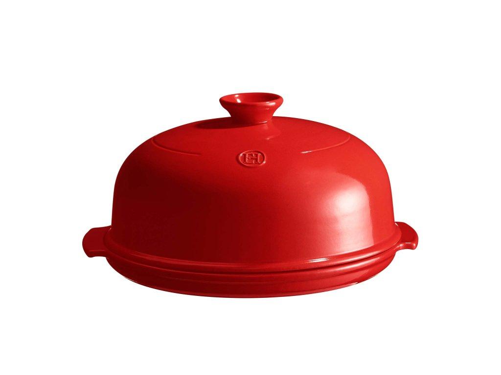 Forma na pečení chleba 28cm kulatá, granátová, EMILE HENRY  + DÁREK (pekařská Stěrka)