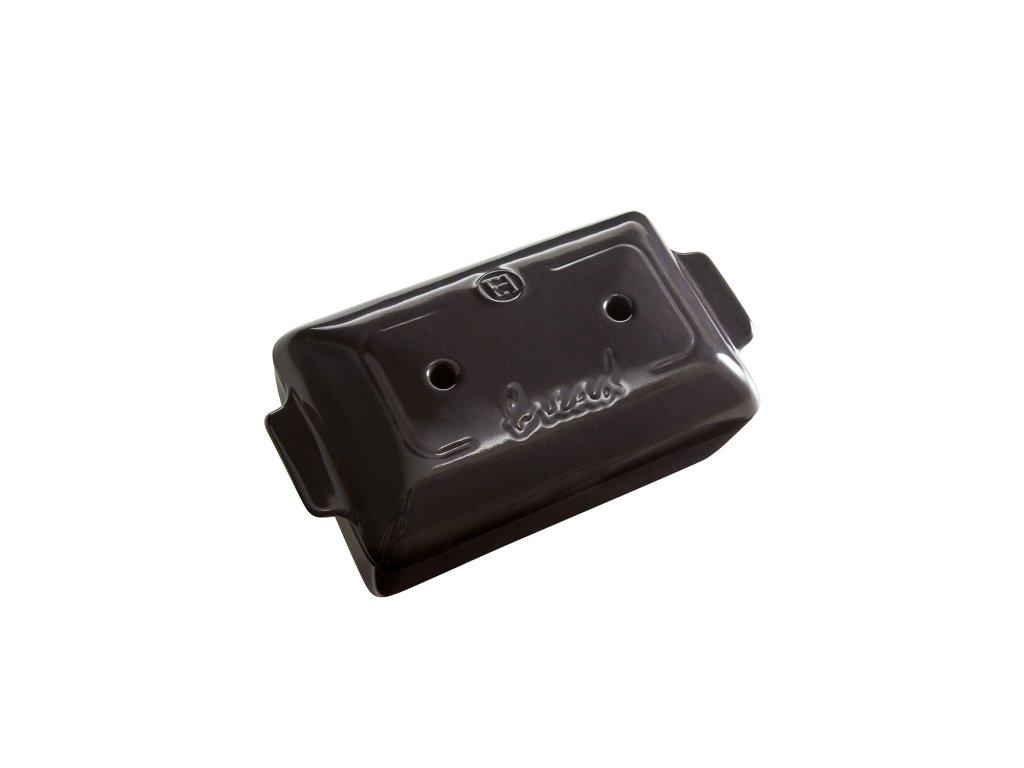 Forma na pečení chleba hranatá 24x15cm, pepřová, EMILE HENRY