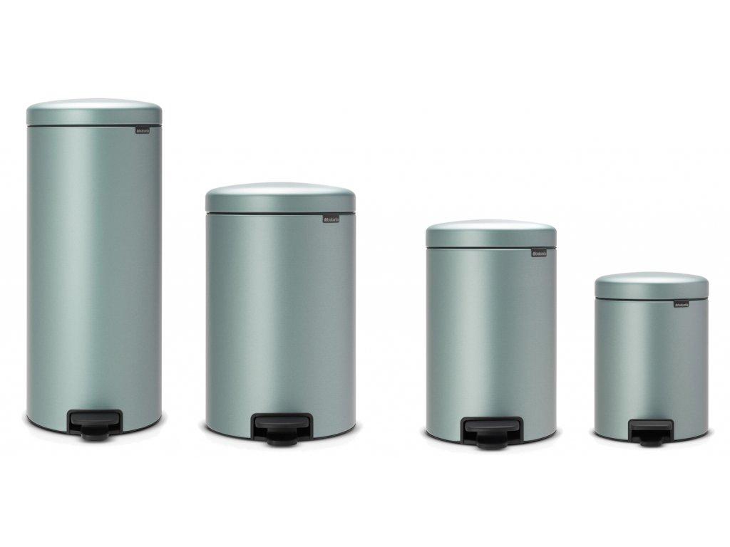 Odpadkový koš NEWICON, tichý pedálový, metalická mátová, BRABANTIA