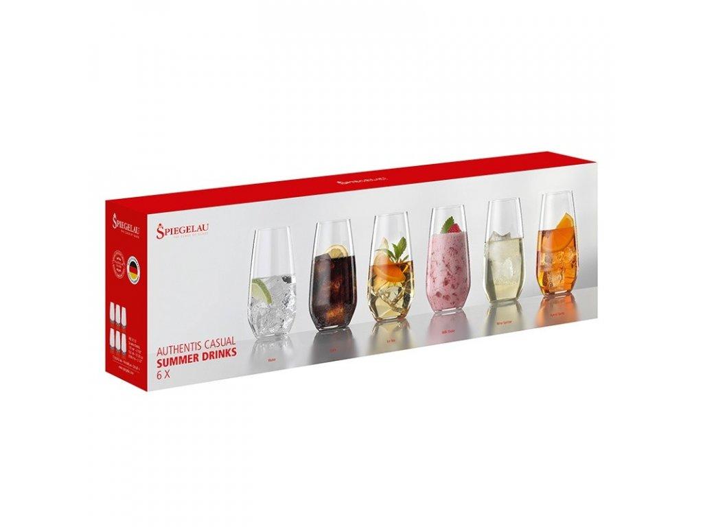 Spiegelau Authentis Casual Summer Drinks Bonus Pack 4 + 2, 6er Set 4800192