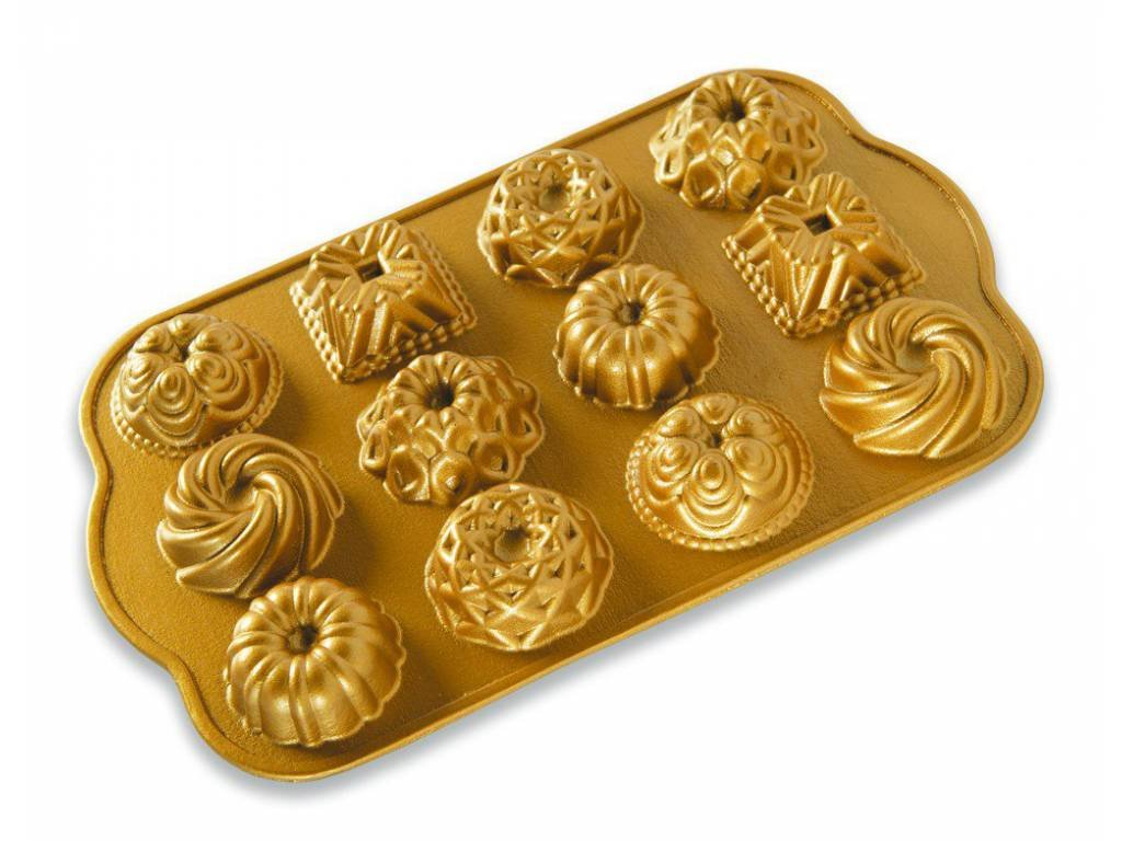 Forma na 12 báboviček zlatá 0,3l, NORDIC WARE