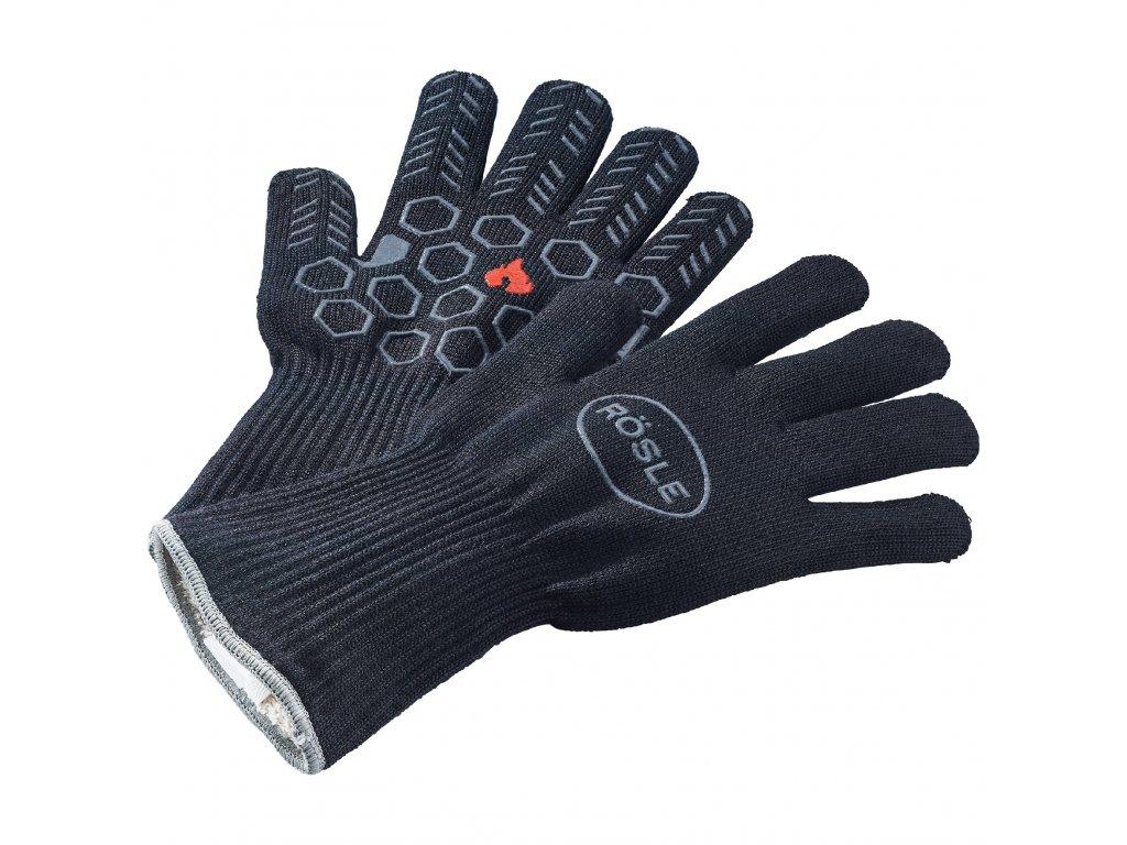 Kevlarové grilovací rukavice 350°C, prstové 2ks, RÖSLE
