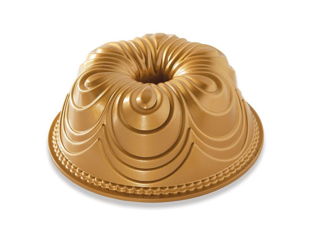 Forma na bábovku Chiffon zlatá 2,4 l , NORDIC WARE