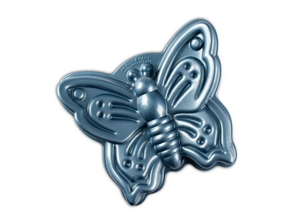 Forma na bábovku Motýl modrá 2l, NORDIC WARE