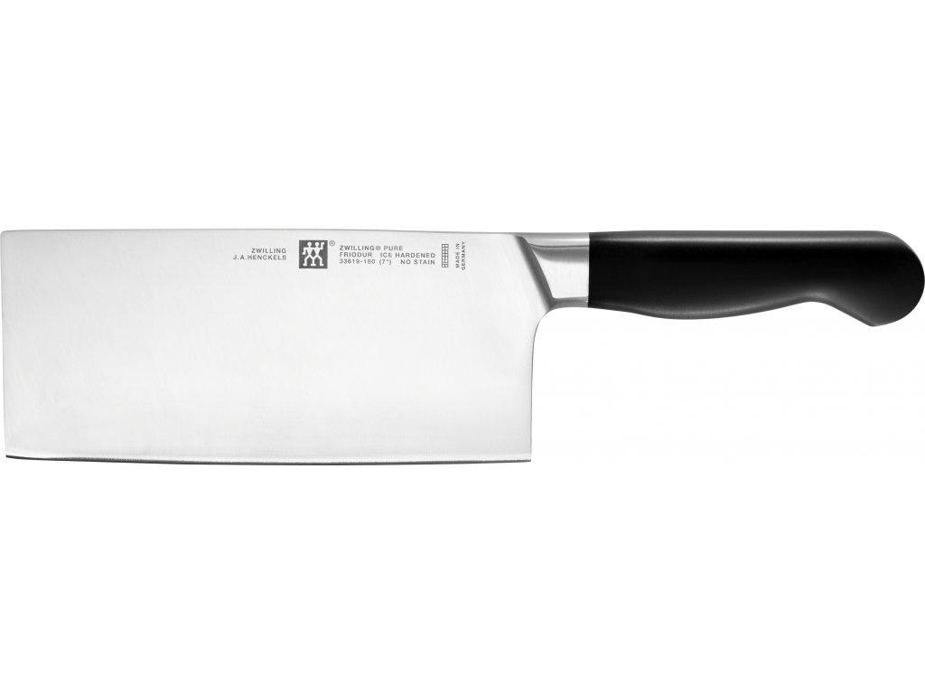 Nůž čínský sekáček kuchařský PURE 18 cm, ZWILLING