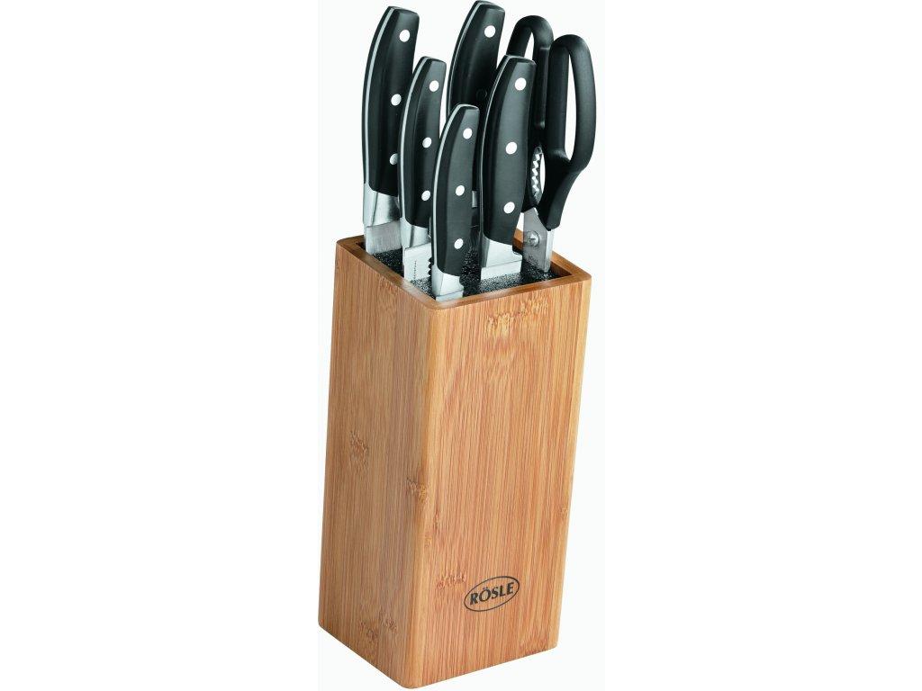 Sada nožů s blokem, 5 nožů a 1 nůžky, RÖSLE