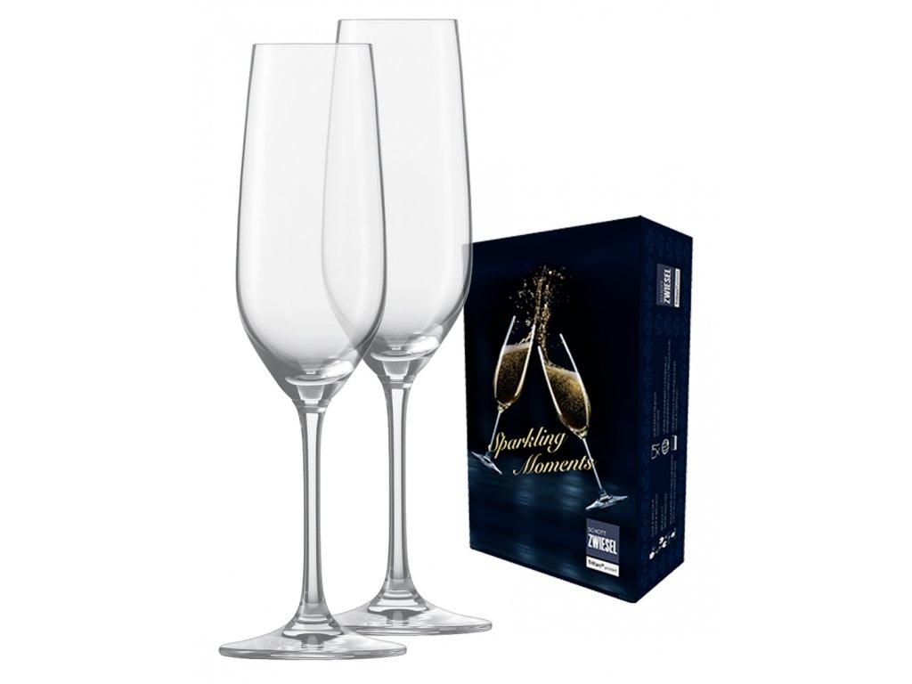 Dárková sada 2 křišťálových sklenic na perlivé víno, 227ml  SECCO, SCHOTT ZWIESEL