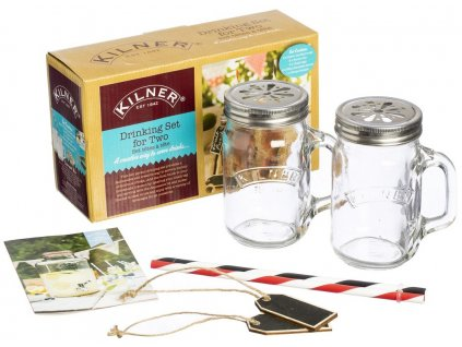 1090 sklenice s uchem 400ml darkovy set original set 2ks dzbanky vicka slamky recepty kilner