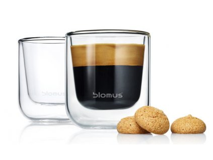 Set 2 ks termosklenic na Espresso 80ml  NERO, BLOMUS