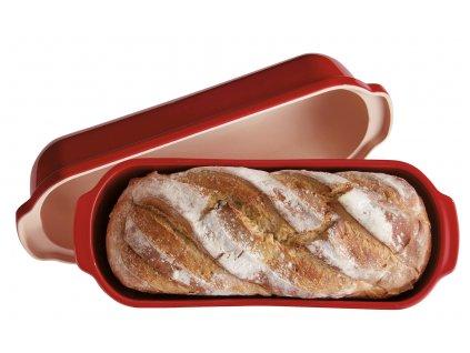 16402 forma na peceni chleba velka hranata 40x16 cm granatova emile henry