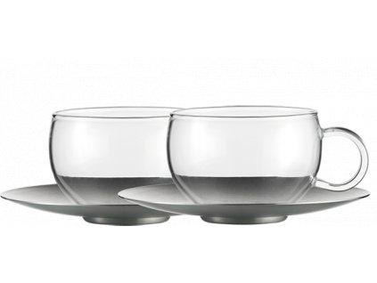 Šálek na čaj s podšálkem,  Good Mood, bal.2ks, JENAER GLAS