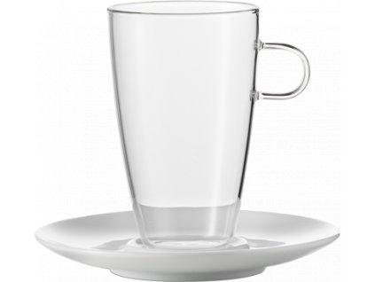 Sada šálků na Latte s podšálkem, 500ml  Concept, set.2ks, JENAER GLAS