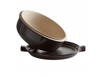 Forma na pečení chleba 28cm kulatá, pepřová, EMILE HENRY  + DÁREK (pekařská Stěrka)