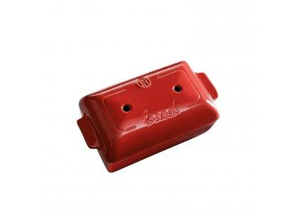 Forma na pečení chleba hranatá 24x15cm, granátová, EMILE HENRY