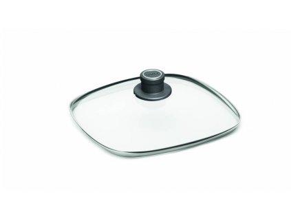 Skleněná poklice čtvercová 28x28 cm z bezpečnostního skla, WOLL