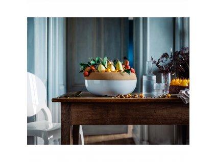 Velká mísa na uskladnění ovoce a zeleniny s korkovým víkem, 6,5l křídová, Emile Henry