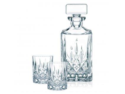 Dárková sada 2 křišťálových sklenic a karafy Noblesse na Rum a Whisky, Nachtmann