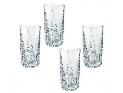 29654 1 kristalove sklenice na longdrink sculpture 4ks 420 ml nachtmann