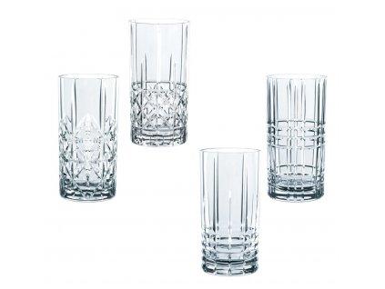 Křišťálové sklenice na Longdrink Highland 4ks, 445 ml, Nachtmann