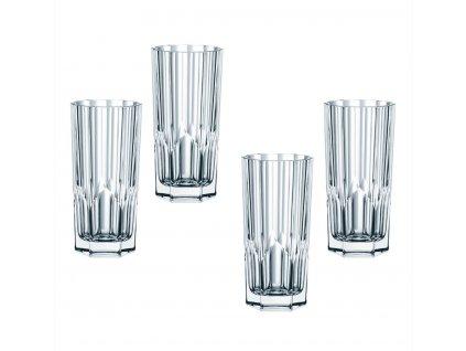 Křišťálové sklenice na Longdrink Aspen 4ks, 309 ml, Nachtmann