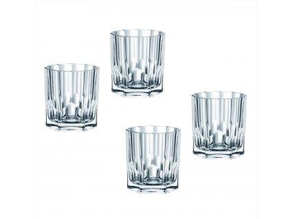 Křišťálové sklenice na Rum a Whisky Aspen 4ks, 324 ml, Nachtmann