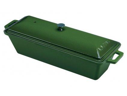 Pekáč terina litinový,26,5x8,5x6 cm zelený, LAVA