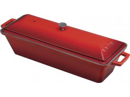 Pekáč terina litinový,26,5x8,5x6 cm červený, LAVA