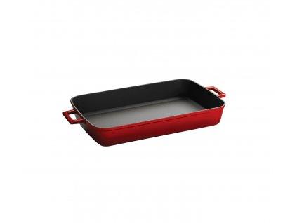 Pekáč obdélníkový litinový 22x30 cm červený, LAVA