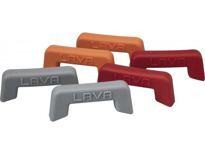 Silikonové krytky na litinové hrnce červené, bal.2ks, LAVA
