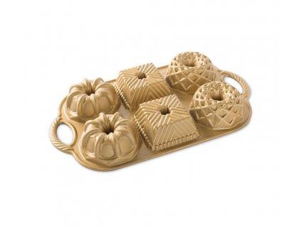 Forma na 6 báboviček zlatá 1,4 l, NORDIC WARE